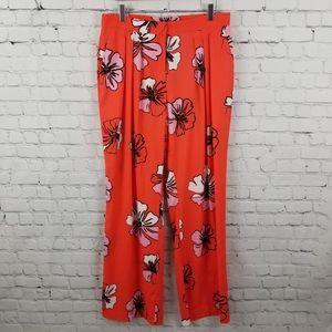VINCE CAMUTO | wide leg floral flowy trouser pants